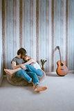 couple on beanbag.jpg