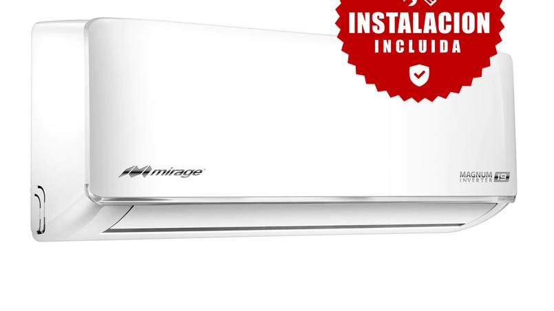 Minisplit Magnum 19 inverter 12,000 btu/h 220V1 Ton solo frio con instalación