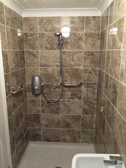 Classy walk-in shower