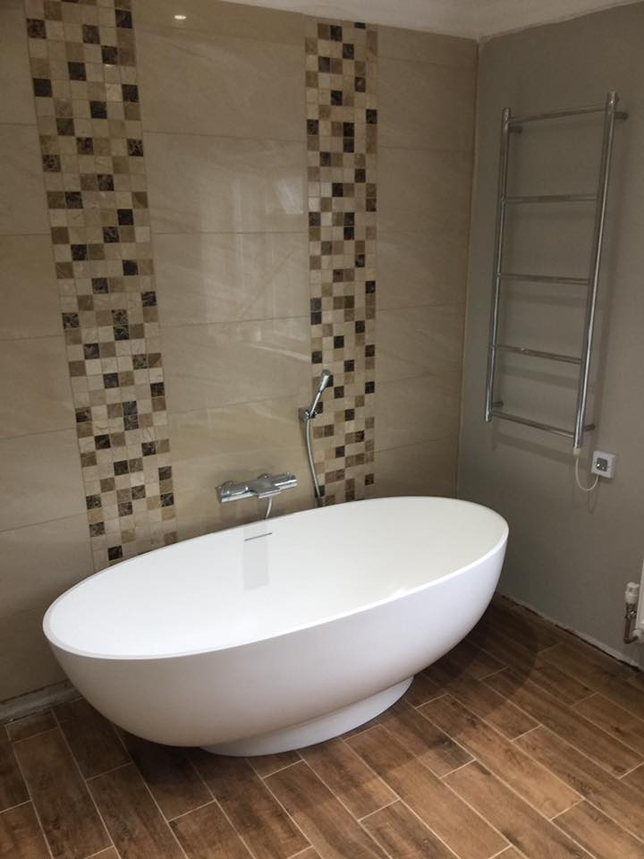 Modern, stylish bath