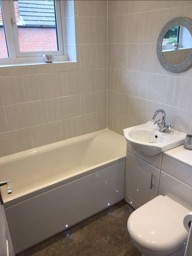 Simple but stylish bathroom suite