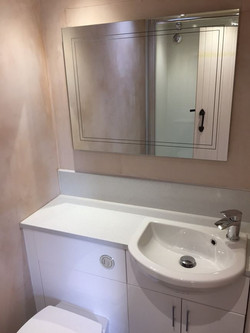 Sink unit and mirrored cabinet