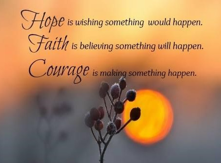 Courage Takes You By Surprise