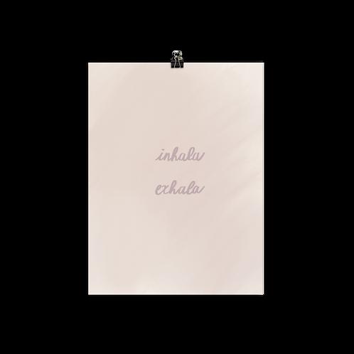 Inhala Exhala Poster