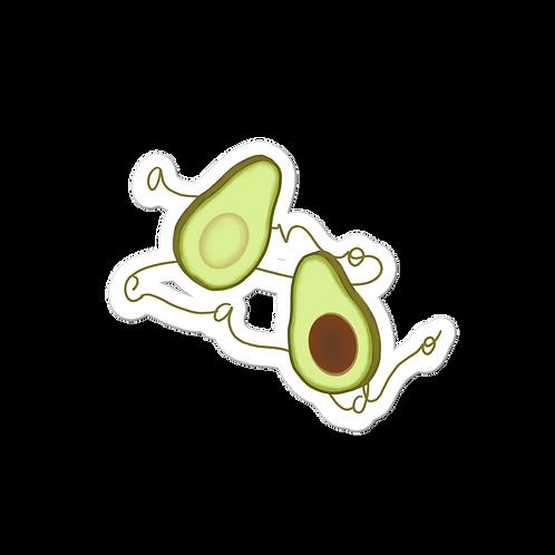 Avocado Lettering Sticker