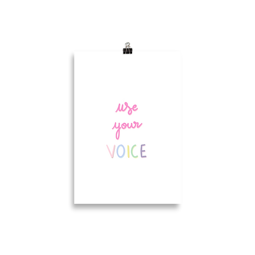 Use Your Voice Poster