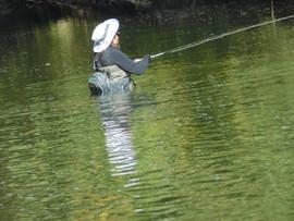 Waist deep fishing
