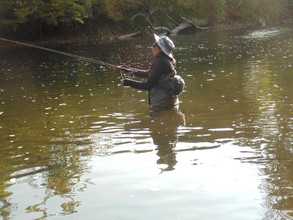 Fishing on the Battenkill River