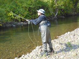 Casting into the Battenkill River