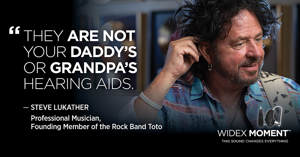 Steve Lukather wears Widex Hearing aids