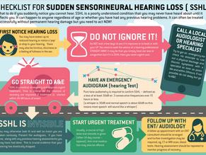 Checklist for Sudden Sensorineural Hearing Loss (SSHL)
