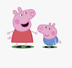 peppa pig and george.png