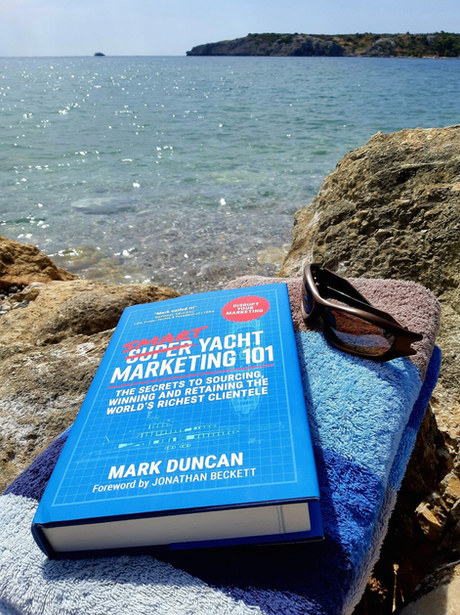Smart Yacht Marketing 101 - Summer reading shot posted by reader