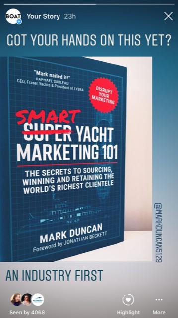 Boat International post about Smart Yacht Marketing 101