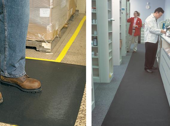 Funcionna como piso antideslizante en areas de trabajo