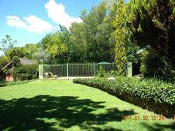 Lawn area outside