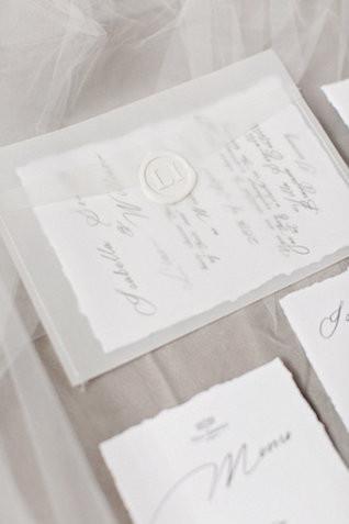 partecipazione matrimonio amalfi con ceralacca elemento ginko