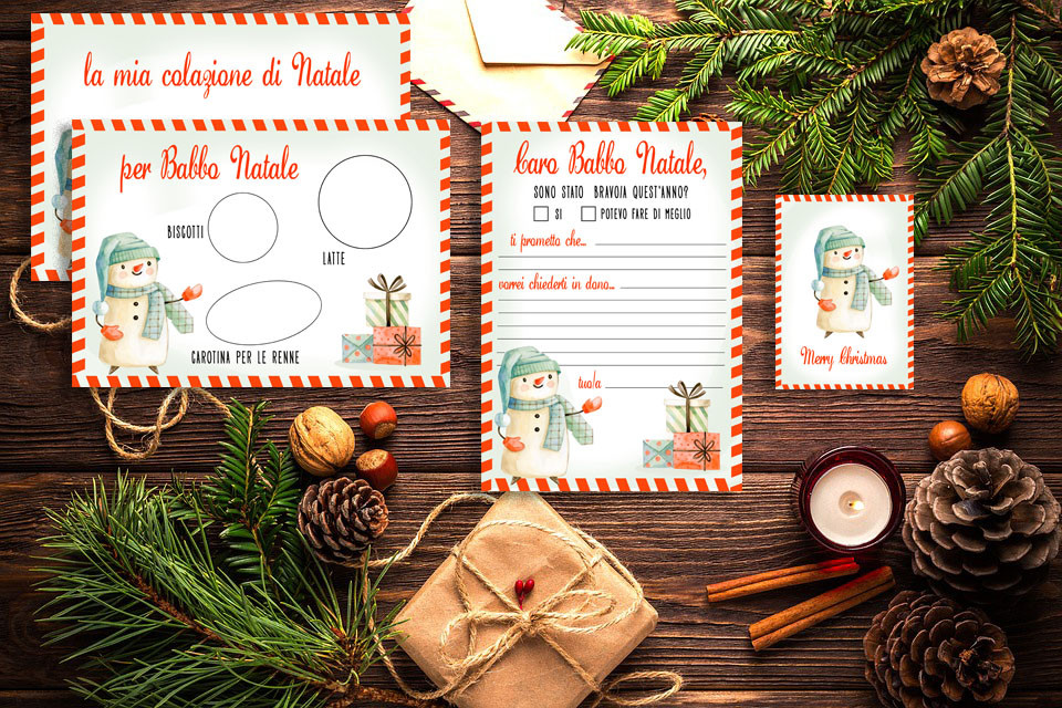 Kit Letterina di Babbo Natale free download - gratis