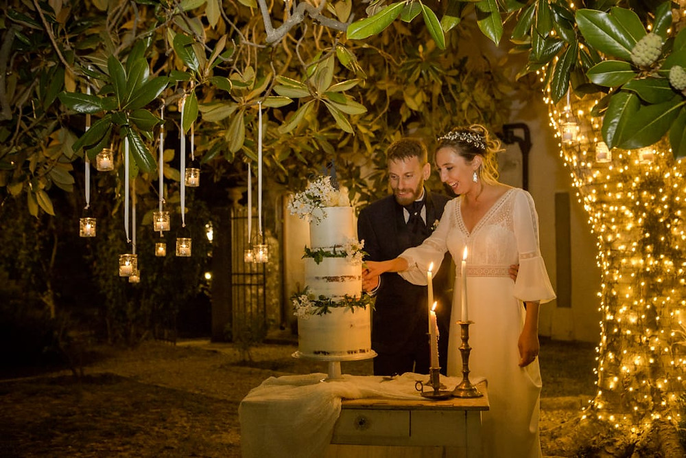 Cake wedding boho chic in Fiesole