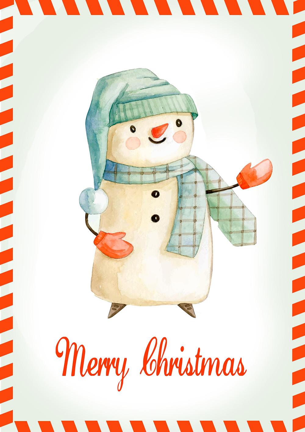 Biglietto di auguri di Natale - Merry Christmas