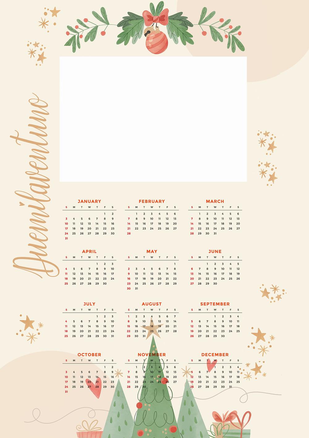 Calendario gratuito 2021 gratis da personalizzare