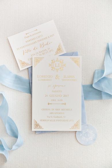 partecipazione matrimonio dusty blue