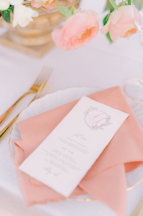 Menu Matrimonio in Val d'orcia wedding Flower Locanda in Tuscany mise en place table decor