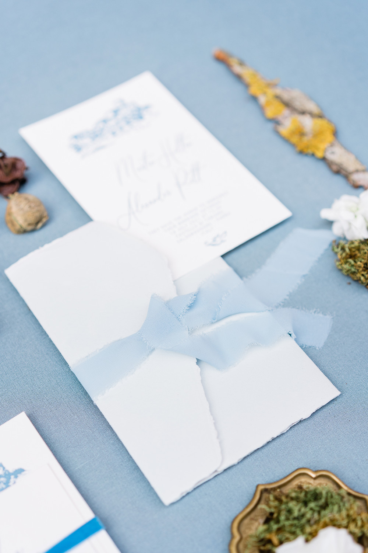 Buste in carta Amalfi color dusty blue