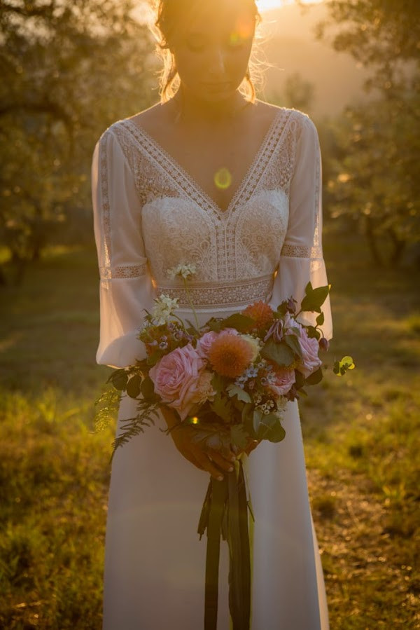 Tuscany bride boho chic in Fiesole