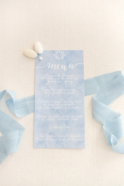 menu matrimonio dusty blue