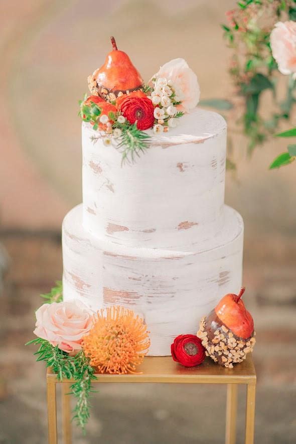 Torta matrimonio fiori e frutti - wedding cake