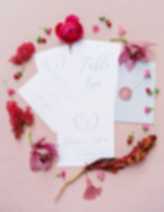 partecipazione matrimonio wedding tuscany ceralacca rosa calligrafia invito matrimonio
