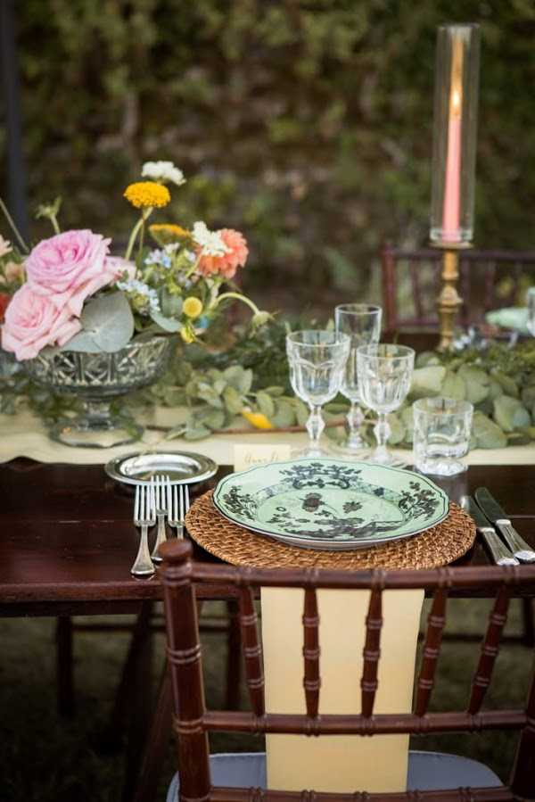 Mise en place wedding boho chic