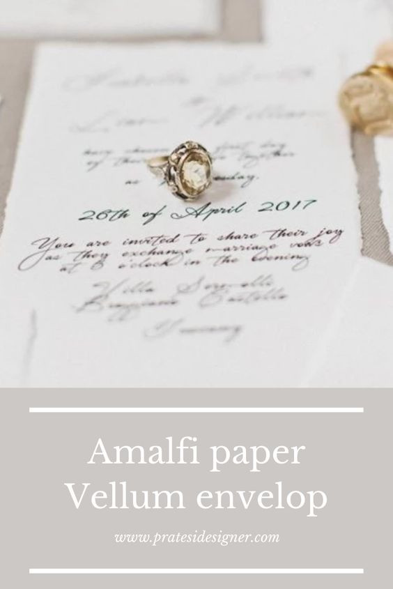 partecipazioni matrimonio elegante ginko carta amalfi busta trasparente