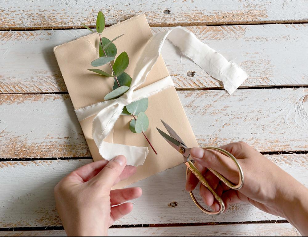 Buste in carta Amalfi color cipria