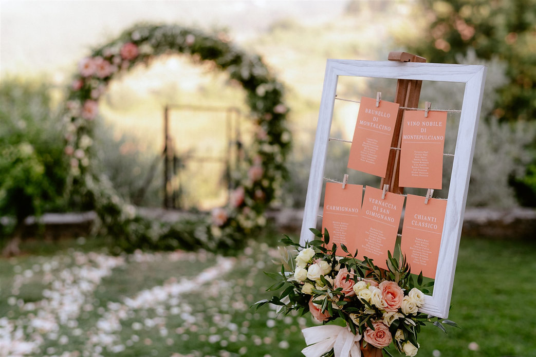 tableau de mariage table setting matrimonio in Toscana