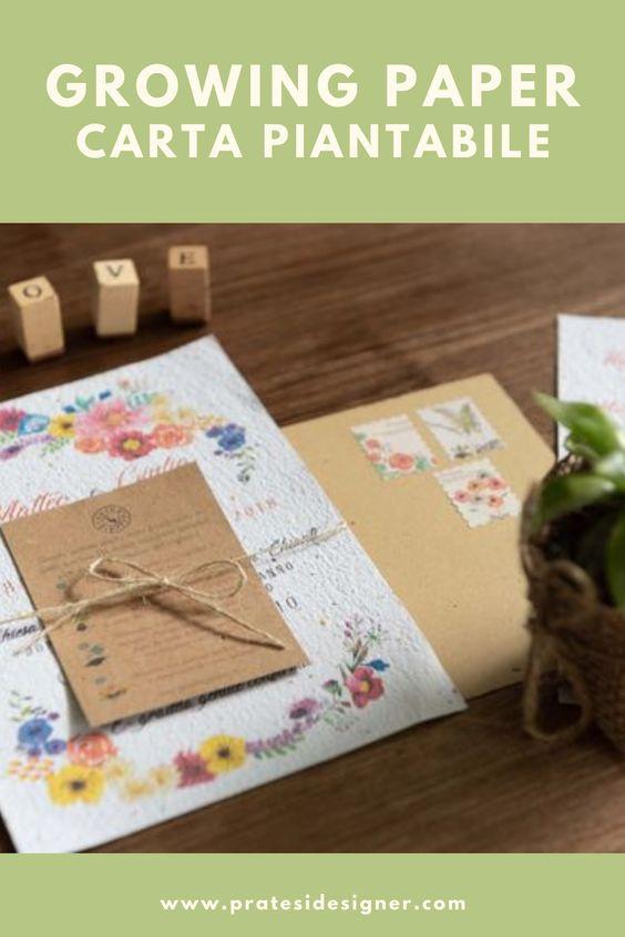 carta piantabile growing paper partecipazioni matrimonio wedding invitation rustic chic
