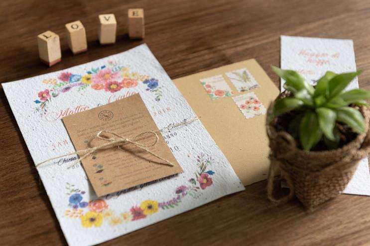partecipazione matrimonio growing paper la carta che germoglia