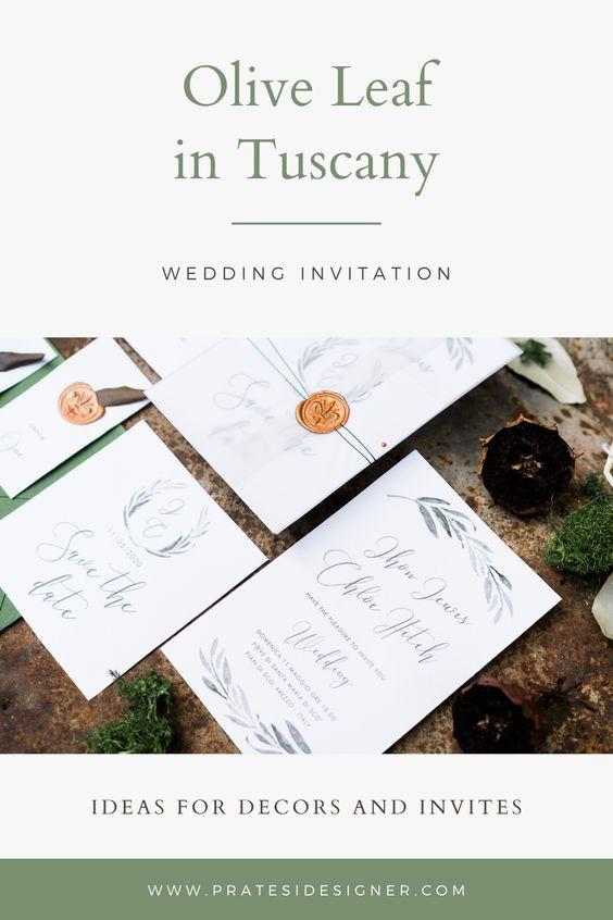 partecipazioni matrimonio foglia di olivo matrimonio rustic chic wedding invitation olive leaf