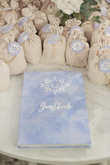 guestbook matrimonio dusty blue
