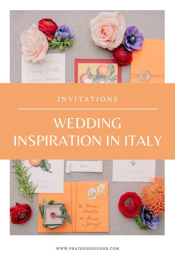 Wedding invitation citrus botanical inspiration - partecipazioni matrimonio rustico fiori di arancio disegni botanici