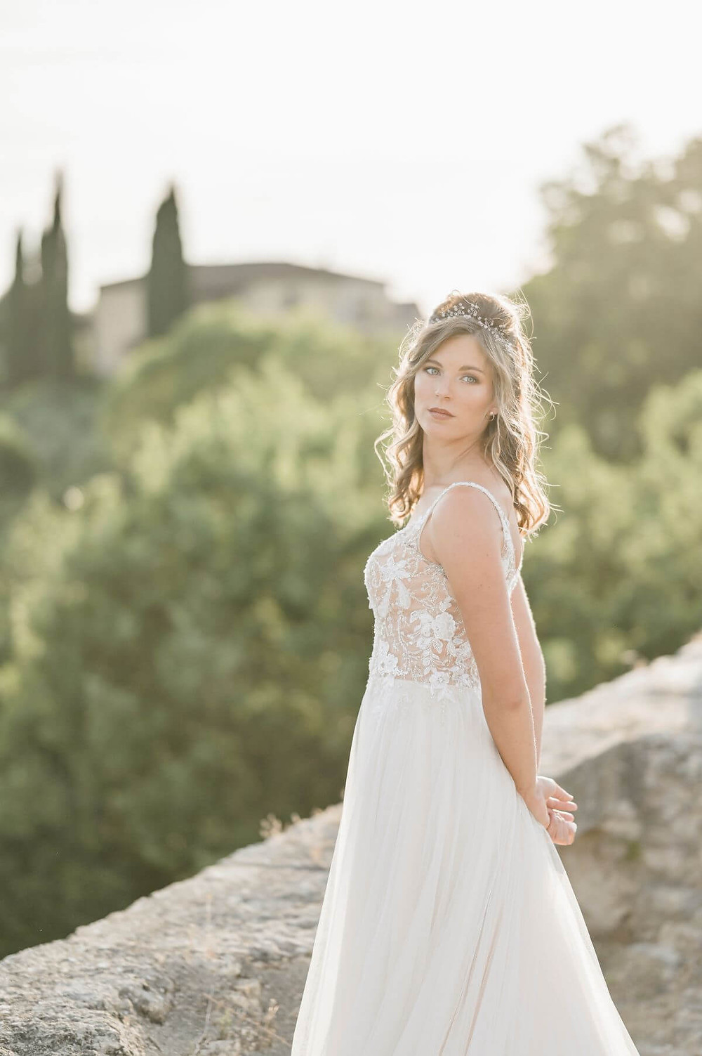 Bride in tuscany  - sposa country chic