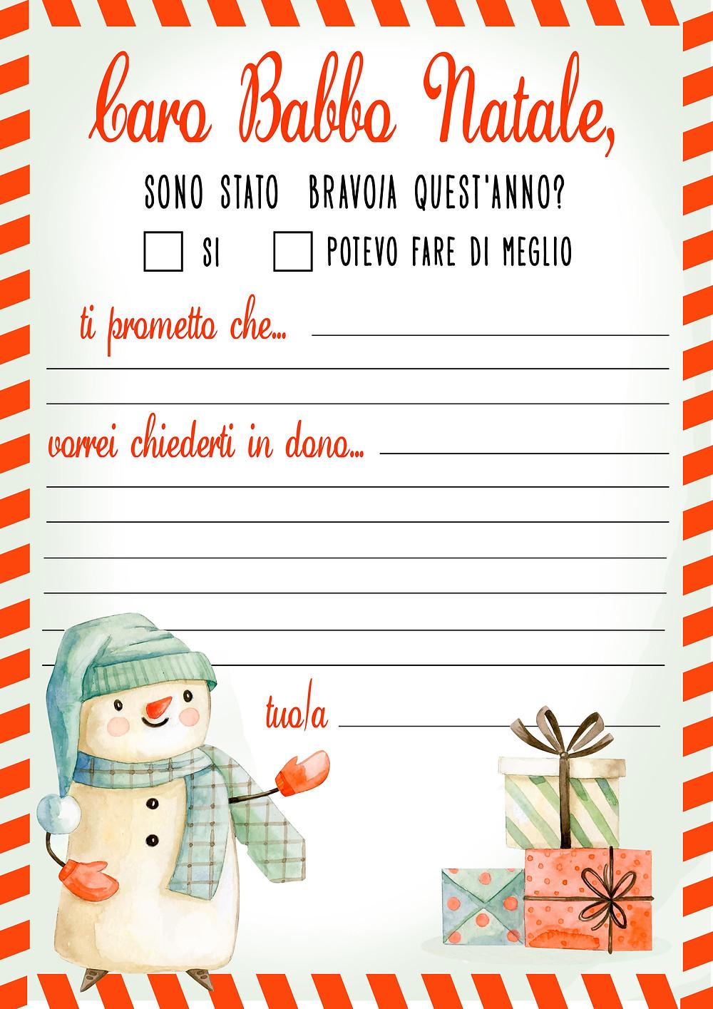 Letterina di Babbo Natale free download - gratis