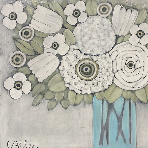 Friday Flowers 32x32x3  FREE SHIPPING