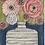 Thumbnail: Bouquet on Blue  16x32x3  FREE SHIPPING