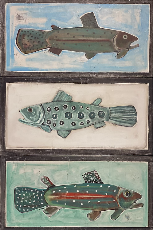 Middle Fish 16x32x3