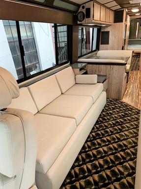 83 Prevost passenger side couch