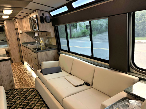 83 Prevost Driver's side Couch
