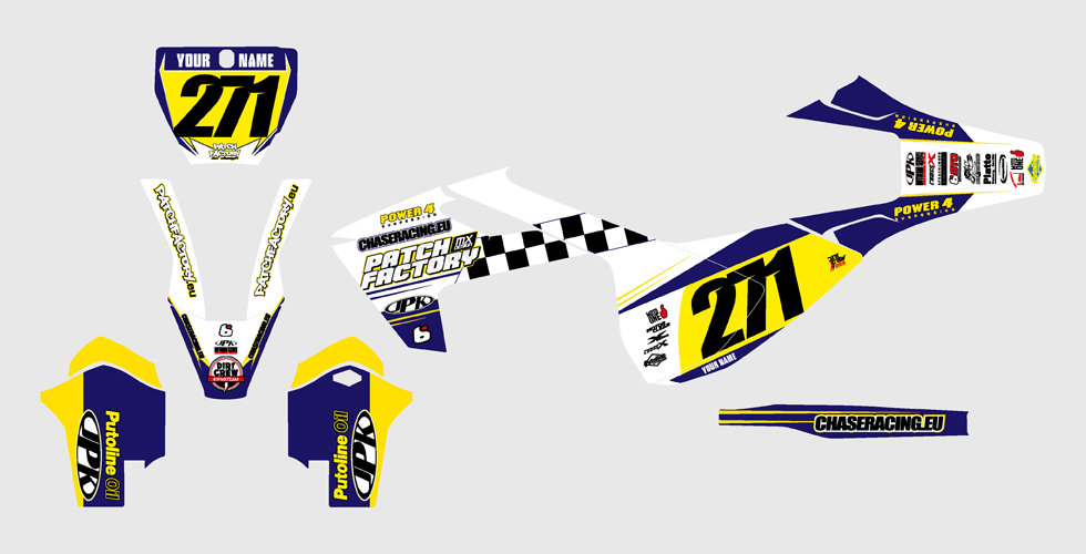 PFMX Team Replica Kit Husqvarna