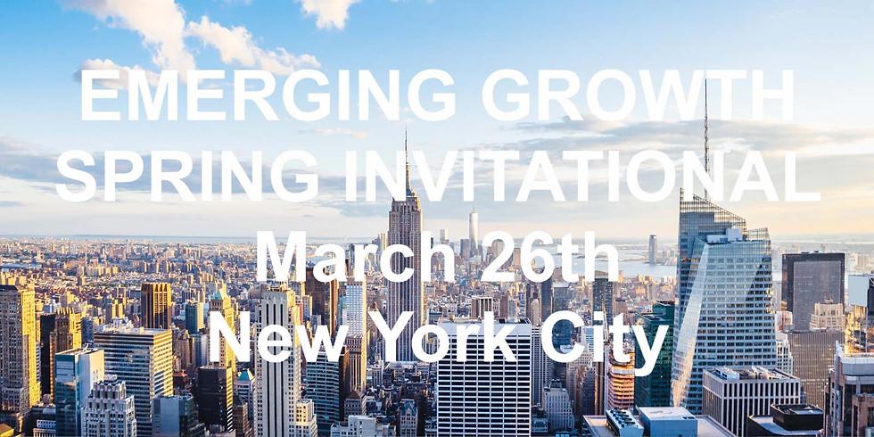 Emerging Growth Spring Invitational